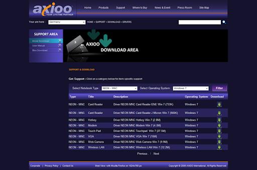 Download driver axioo fw01